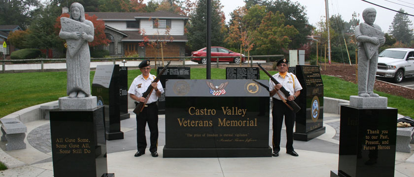 Castro Valley Veterans Memorial - Service Stone
